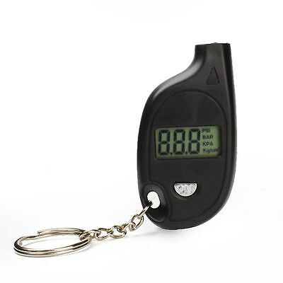 150 PSI Digital Auto Car LCD Mini Tire Gauge Keychain
