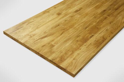 Massivholzplatte Tischplatte Arbeitsplatte Wildeiche Rustikal Farblos geölt 40mm