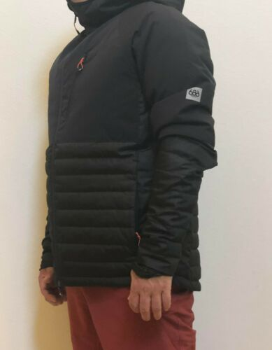 L Details about  /686 Glacier Hydra Down Insulator Snowboard Jacket Black L8WGNS05-BLK