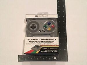✅Nintendo SNES Classic Wii U Famicon My Arcade Super Gamepad Wireless Controller