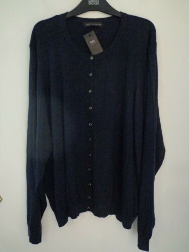 BNWT LADIES M/&S COLLECTION RANGE LONG SLEEVED NAVY BLUE CARDIGAN SIZE 28