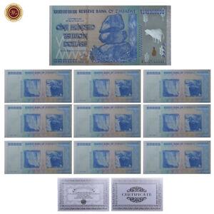 WR-10-Zimbabwe-Silver-Banknote-Colored-Z-100-Trillion-Collectible-Money-Set-COA