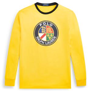 Mens Polo Ralph Lauren Long Sleeve Yellow T Shirt Size XL