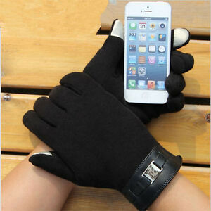 Winter-Warm-Plus-Velvet-Men-039-s-Gloves-Mitten-ipad-iphone-Touch-Gloves
