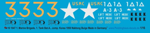 Tank Bat Marines 1 Peddinghaus  1047 1//16 M26 Pershing 1 Korea 1950 Nakton Bu