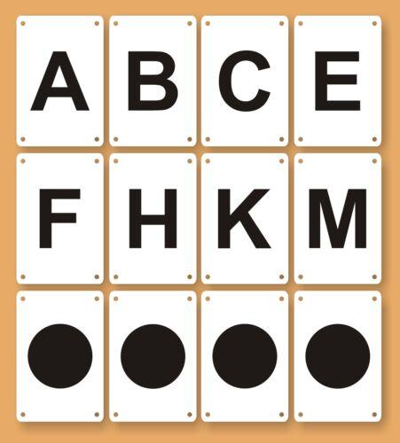 Dressurbuchstaben in allen Größen und Varianten! Bahnpunkte und Zirkelpunkte .: