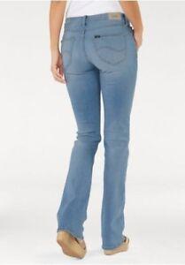 L530haoh W26 Damen Blau Lee Bootcut Jeans Stretch Tuyau W31 Neu Denim Skinny L33 1agtqwT