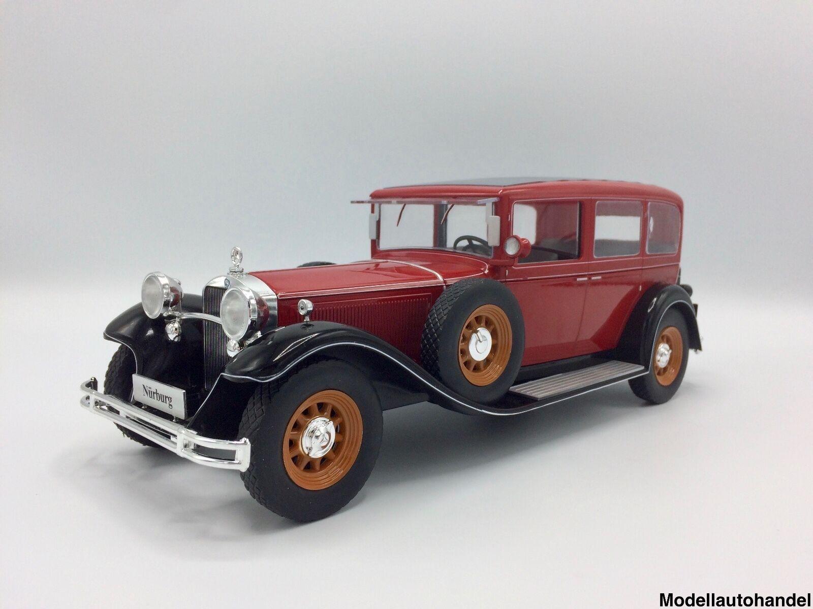 Mercedes Typ Nürburg 460  1928 1928 1928 rot schwarz  - 1 18 MCG     NEW<<  | Exquisite Verarbeitung  987645