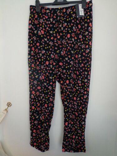 BNWT Donna M/&S Collection Gamma Taglie Forti Nero Mix Estate Pantaloni Taglia 24