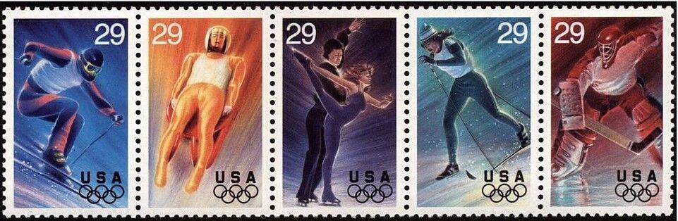 1994 29c Winter Olympics, Strip of 5 Scott 2807-11 Mint