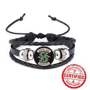 Riverdale côté sud Serpents Cuir véritable verre multicouche Bracelet Perle Nouveau