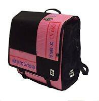 Koki Up1 Urban Bike Bag Cycling Tote Pink & Black Recycled Materials Pannier