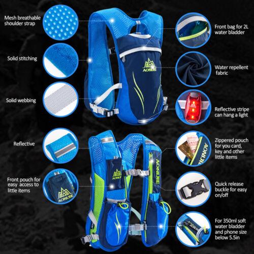 AONIJIE Outdoor Hydration Pack Running Vest Pack Water Bladder Bag for U6J4