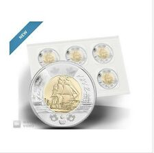 2012 $2 WAR of 1812 HMS SHANNON CIRCULATION PACK of 5 Canada Toonie Uncirulated