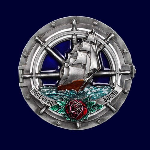 Sailing Ship Buckle Belt Buckle Sailor Sailor Clipper Beltbuckle Belt 513