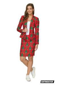 Weihnachtsanzug-Christmas-Tree-Ladies-Suit-Suitmeister-Slimline-Economy-2-teilig