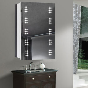 double sided led bathroom mirror cabinet with shaver socket clock