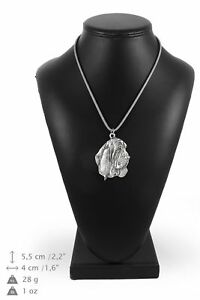 Basset-Hound-silver-plated-pendant-with-silver-cord-Art-Dog-IE