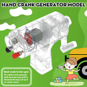 Hand-Crank-Generator-Model-Toy-Small-Physics-Scientific-Teaching-Game-Experiment
