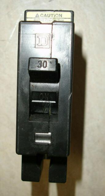 SQUARE D CIRCUIT BREAKER 30 AMP 480V 1 POLE EHB14030
