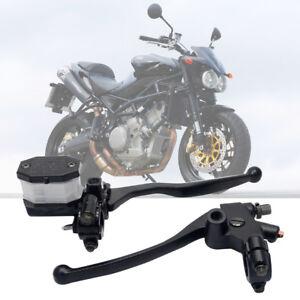 Pair-7-8-034-Motorcycle-Hydraulic-Brake-Clutch-Master-Cylinder-Reservoir-Lever-22mm