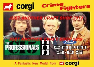 Corgi-Toys-342-The-Professionals-Ford-Capri-A4-Poster-Advert-Shop-Sign-Leaflet