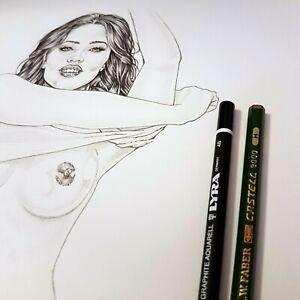 Sexy-Portraits-Pencil-on-Fabriano-F6-220gr-new-original