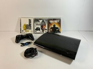 Sony PlayStation 3 PS3 SuperSlim Console 250GB Bundle w/ 3 Games + 1 Controller