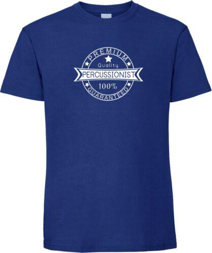 Le percussionniste-qualité Premium 100/% garanti T-shirt Percussion Drums Top