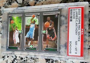 LEBRON-JAMES-2003-04-Topps-Matrix-Triple-Rookie-Card-RC-PSA-Lakers-Wade-Melo-MVP