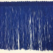 """6"""" Royal Blue DOUBLE STRAND Chainette Fabric Fringe Lamp Costume Trim BY YARD"""
