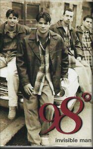 1997 R&B POP CASSETTE SINGLE: 98 DEGREES - INVISIBLE MAN (MOTOWN) + Instrumental