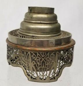 Antique-Chinese-Fine-Paktong-Pewter-Opium-Lamp-Signed-Openwork-Burner