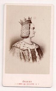 Vintage-CDV-Joan-II-Countess-of-Burgundy-Queen-of-France-E-Neurdein-Photo