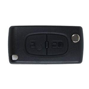 1X-2-Boton-Carcasa-del-mando-Llave-Key-para-PEUGEOT-206-107-207-307-407-CITRO-YU