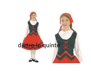 Costume Vestito Contadinapastorella Presepe Natale Carnevale