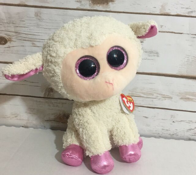 3a9e24fb79b Ty Beanie Boos Twinkle The Lamb Glitter Eyes Pink White Soft Plush 10 Inch.  +.  11.03Brand New