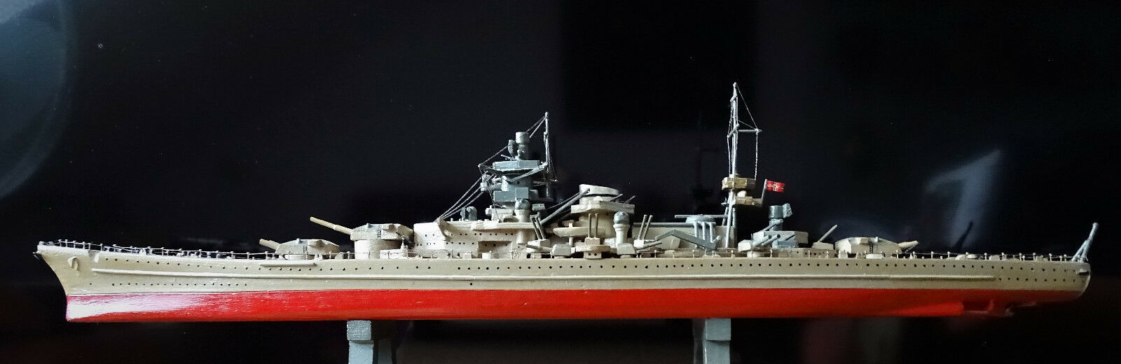 Antique Ship Model 2.wk Navy German Battleship Scharnhorst 80 cm