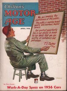 Chilton's Motor Age April 1956 T.J. Thomas  100218ame