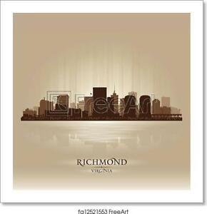 Richmond Virginia Art Print Canvas Print Poster Wall Art Home Decor Ebay