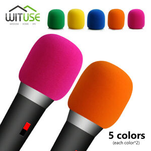 10X-COLORFUL-MICROPHONE-WINDSCREEN-FOAM-MIC-COVER-FOR-HANDHELD-STAGE-KARAOKE-DJ