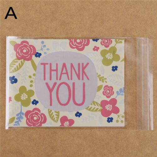 100pcs cookie packaging bag gift bag self adhesive plastic bag wedding-candy bag