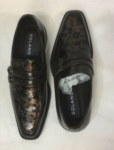 Mens Bolano Shoe Color Brown Loafers Exotic print new with box.