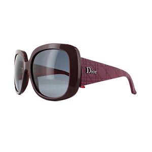 comprare popolare 19a4e 72a36 Dettagli su Dior Occhiali da Sole Dior Donna Lady1O Oqv HD Opache Bordeaux  Viola Grigio Fumè