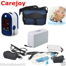 Carejoy Portable Oxygen Concentrator Generator Household +Pulse Oximeter Safely
