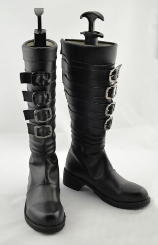 new Alice Madness Returns Anime Costume Cosplay Black Boots Shoes Any Size