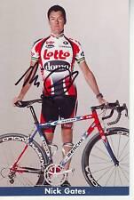 CYCLISME carte cycliste NICK GATES équipe LOTTO DOMO 2004 signée