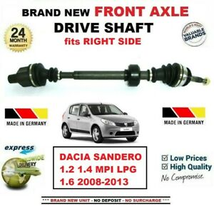 FOR-DACIA-SANDERO-1-2-1-4-MPI-LPG-1-6-2008-2013-NEW-FRONT-AXLE-RIGHT-DRIVESHAFT
