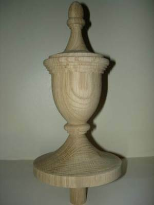 WOOD FINIAL UNFINISHED FOR NEWEL POST FINIAL OR CAP  Finial #63