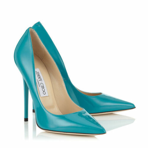 Brand Raro 12cm alti Uk7 Turquoise Tacchi Choo New Jimmy Anouk Stiletto 120mm 8n0OvmNw